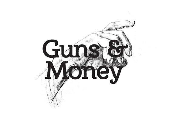 Logo design created for Menswear retailer Guns and Money.