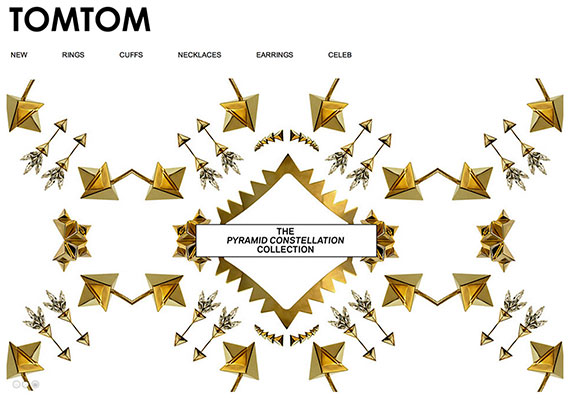 E-commerce design and development project with L.A based jewelry designer Tom Tom Jewelry.